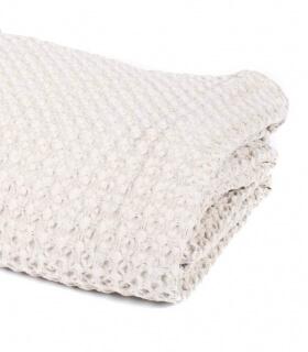 Jeté de canapé/ couvre-lit Beige 100% coton lavé