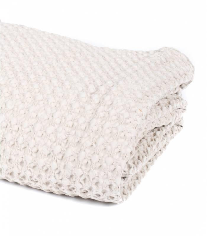 jet de canap couvre lit beige 100 coton plaid addict vente en ligne de plaids coton. Black Bedroom Furniture Sets. Home Design Ideas