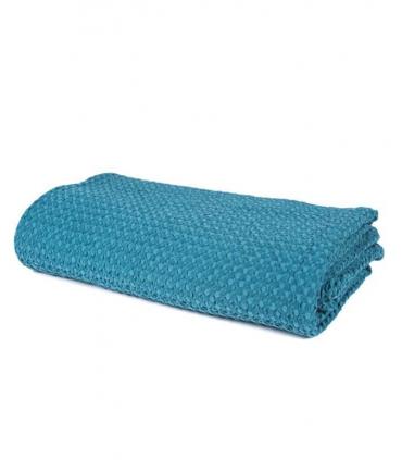 Jeté de canapé/ Couvre-lit Bleu de prusse 100% coton lavé