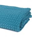 Jeté de canapé/ Couvre-lit Bleu Crépuscule 100% coton