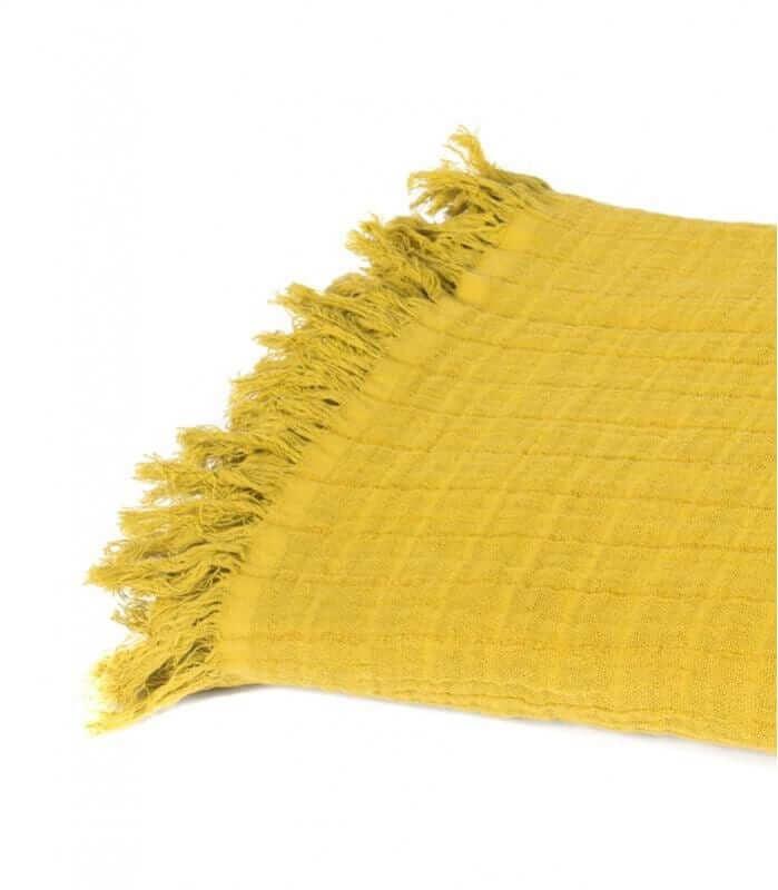 Plaid Coton et Lin Absinthe 130X170 cm