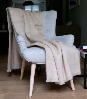 Plaid Mohair Beige Luxe 140 X 180 cm