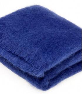 Plaid Mohair Bleu Nuit Luxe 140 X 180 cm