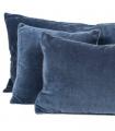 Coussin Velours Bleu 45X45cm