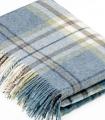 Plaid Pure Laine Écossais Bleu Aysgarth