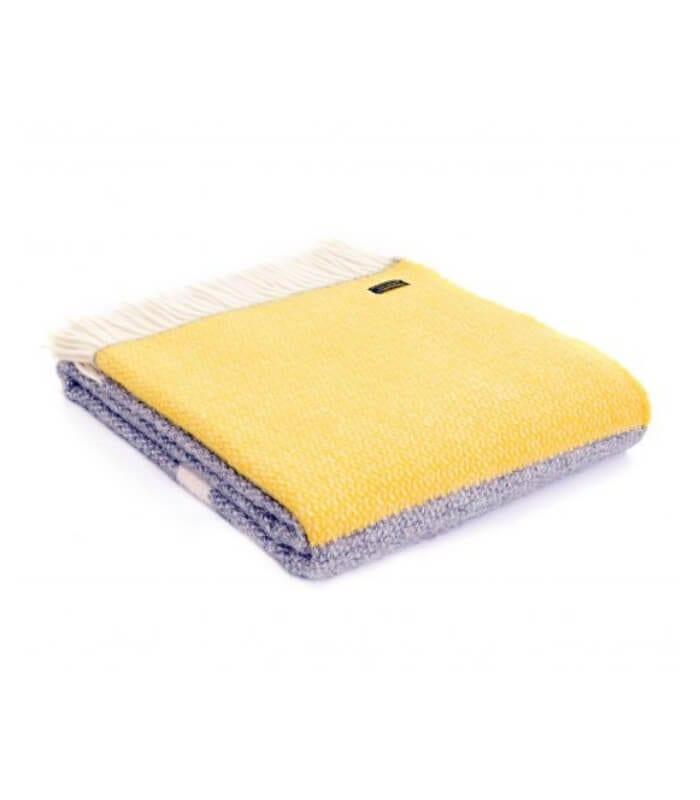 plaid 100 laine jaune et gris plaid addict vente en ligne de 50 100. Black Bedroom Furniture Sets. Home Design Ideas