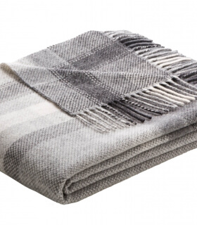 Plaid Cachemire Carreaux Gris