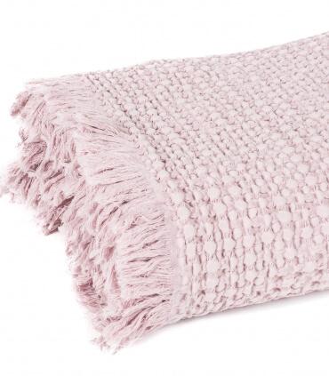 Plaid 100% Coton Rose Poudre