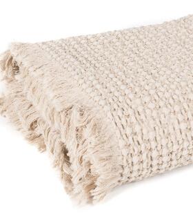 Plaid 100% Coton Beige