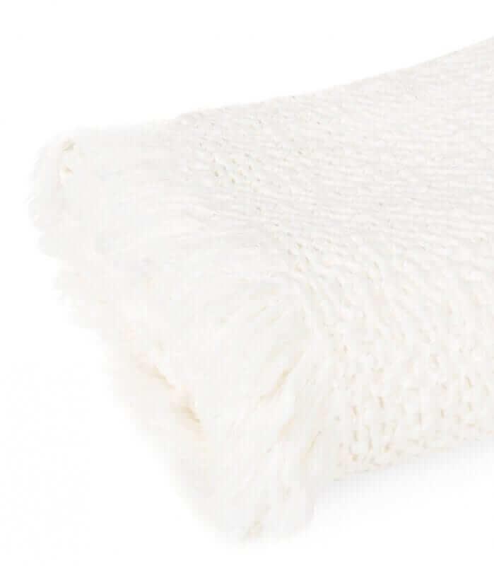 Plaid 100% Coton Blanc