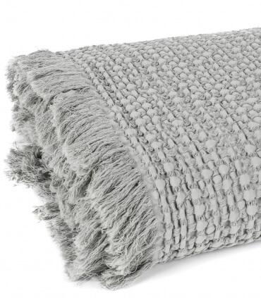 Plaid 100% Coton Gris Clair