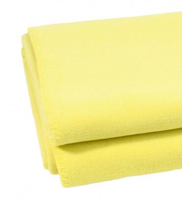 Plaid Polaire Luxe Jaune citron 160 X 200 cm