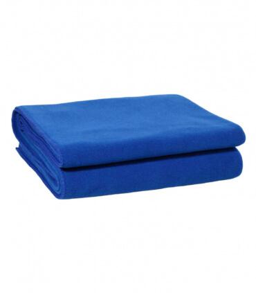 Plaid Polaire Luxe Bleu 180 X 220 cm