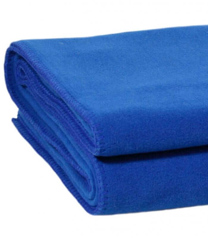 Plaid Polaire Luxe Bleu 160 X 200 cm