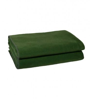Plaid Polaire Luxe Vert foncé 110 X 150 cm