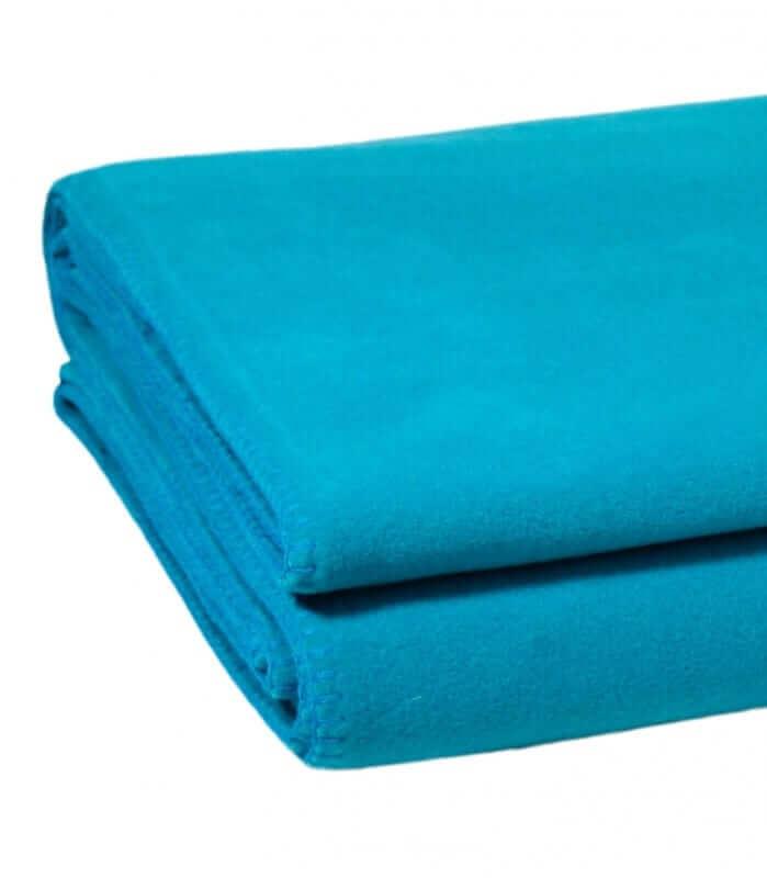 Plaid Polaire Luxe Bleu vert 110 X 150 cm