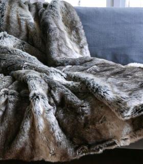 Plaid Couverture en Fausse Fourrure Grizzly 170X240 cm