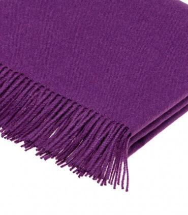Plaid Laine Alpaga Luxe Violet Amethyste