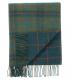 Plaid Laine Écossais Réversible Luxe Vert