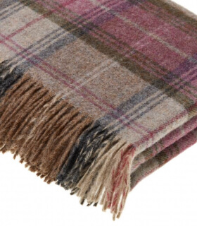 Plaid Ecossais Bruyère - Collection Heritage - 140 X185 cm