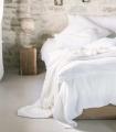 Plaid Blanc en gaze de Coton - Collection Comporta - 130 X 180 cm