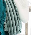 Plaid Vert Celadon en gaze de Coton - Collection Comporta - 130 X 180 cm