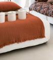 Plaid Orange en gaze de Coton - Collection Comporta - 130 X 180 cm