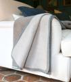 Plaid Laine et Coton 150 X 200 cm Collection ASPEN - Beige et Brun