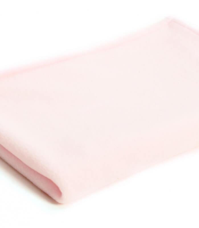 Plaid Couverture Bébé Polaire Rose 72 X 100 cm