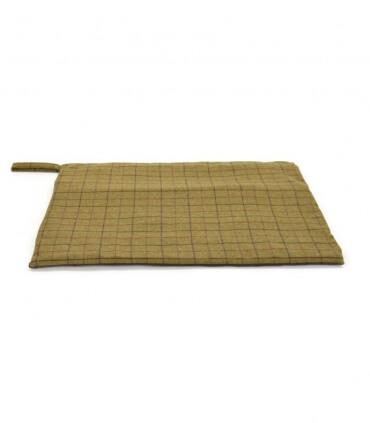 Plaid pour Chien en tweed vert foncé 98 X 72 cm