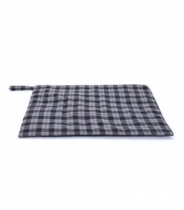 Plaid pour Chien en tweed bleu et gris 98 X 72 cm