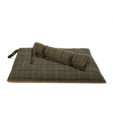Plaid pour Chien en tweed chocolat 98 X 72 cm