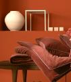 Edredon Bout de Lit Velours Rouge Argile 85X200cm
