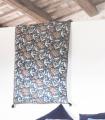 Edredon Bout de Lit Kerala Bleu 85X200cm