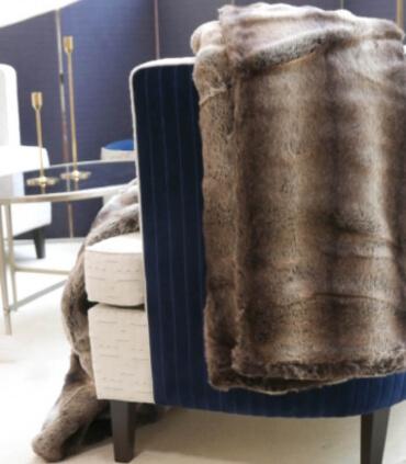 Plaid Fausse Fourrure Loup foncé 150 X 200 cm