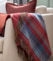 Plaid Laine Écossais Scottish Heritage Luxe Rouge et Bleu 140 X 190 cm