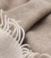 Plaid Cachemire Reversible Beige et Cappuccino - Collection VENICE 150 X 200 cm