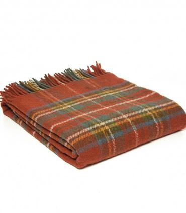 Plaid Pure Laine Écossais Antique Royal Stewart