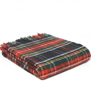Plaid Pure Laine Écossais Antique Black Stewart