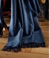 Plaid Cachemire et Laine Bleu Indigo -  Collection VENICE