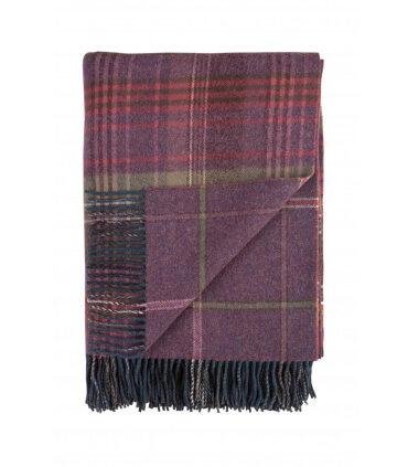 Plaid Laine Écossais Scottish Heritage Luxe Mauve 140 X 190 cm