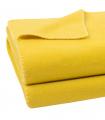 Plaid Polaire Luxe Jaune 160 X 200 cm