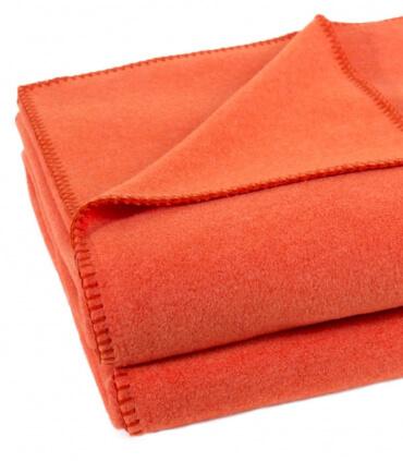 Plaid Polaire Luxe Orange 110 X 150 cm