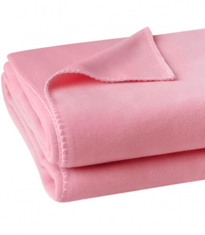 Plaid Soft Fleece Rose pâle