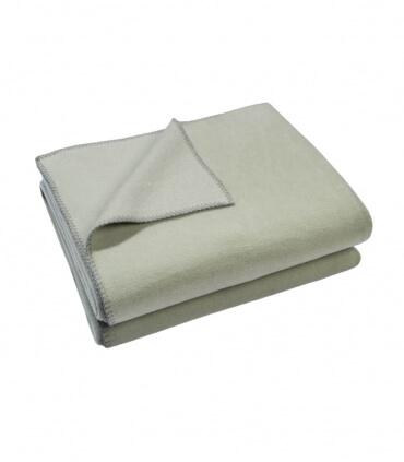 Plaid Polaire Luxe Vert d'eau 110 X 150 cm
