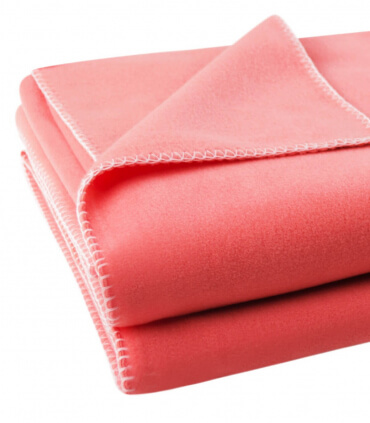 Plaid Polaire Luxe Corail 110 X 150 cm