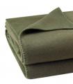 Plaid Polaire Luxe Vert Kaki 110 X 150 cm