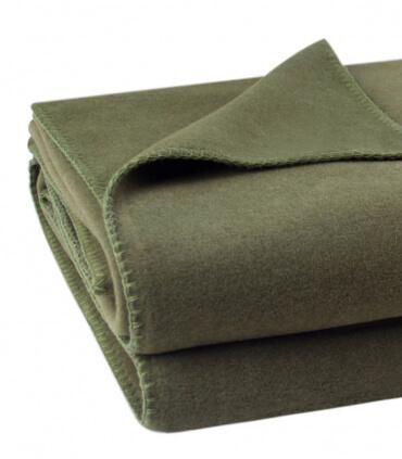 Plaid Polaire Luxe Vert Kaki 160 X 200 cm