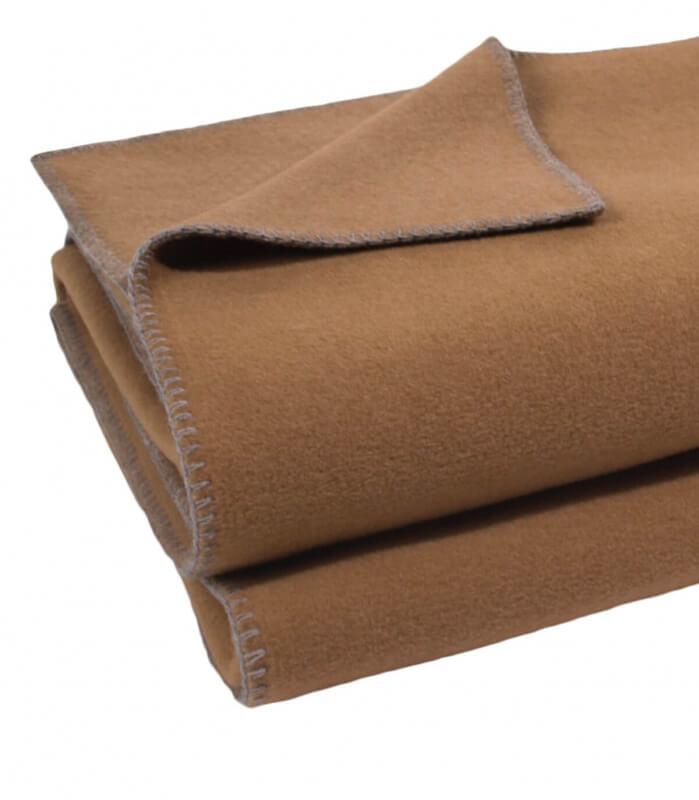 Plaid Polaire Luxe Camel 160 X 200 cm