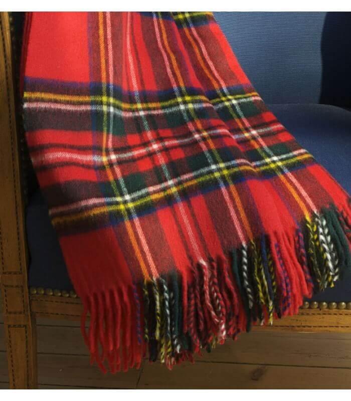 plaid cossais rouge royal stewart plaid addict vente en ligne de plaids pure laine. Black Bedroom Furniture Sets. Home Design Ideas